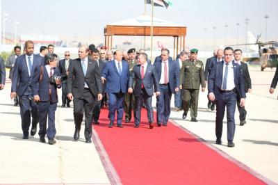 بالصور .. إستقبال كبير للرئيس هادي بالأردن