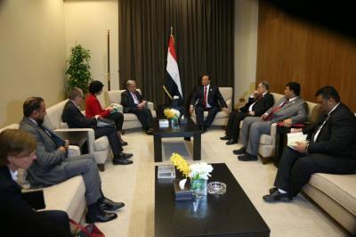 الرئيس هادي يلتقي الأمين العام للأمم المتحدة ( صوره)