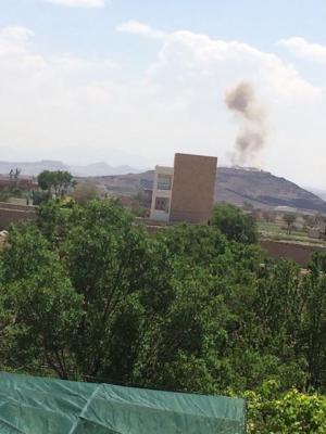 . غارات جوية تستهدف شمال العاصمة صنعاء ( المنطقة المستهدفة )