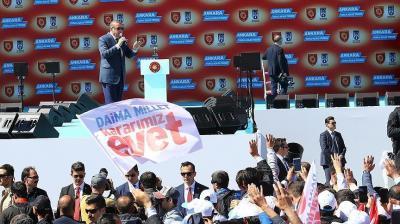 أردوغان : الشعب التركي سيلقن القادة الأوروبيين درسا في 16 أبريل لن ينسوه
