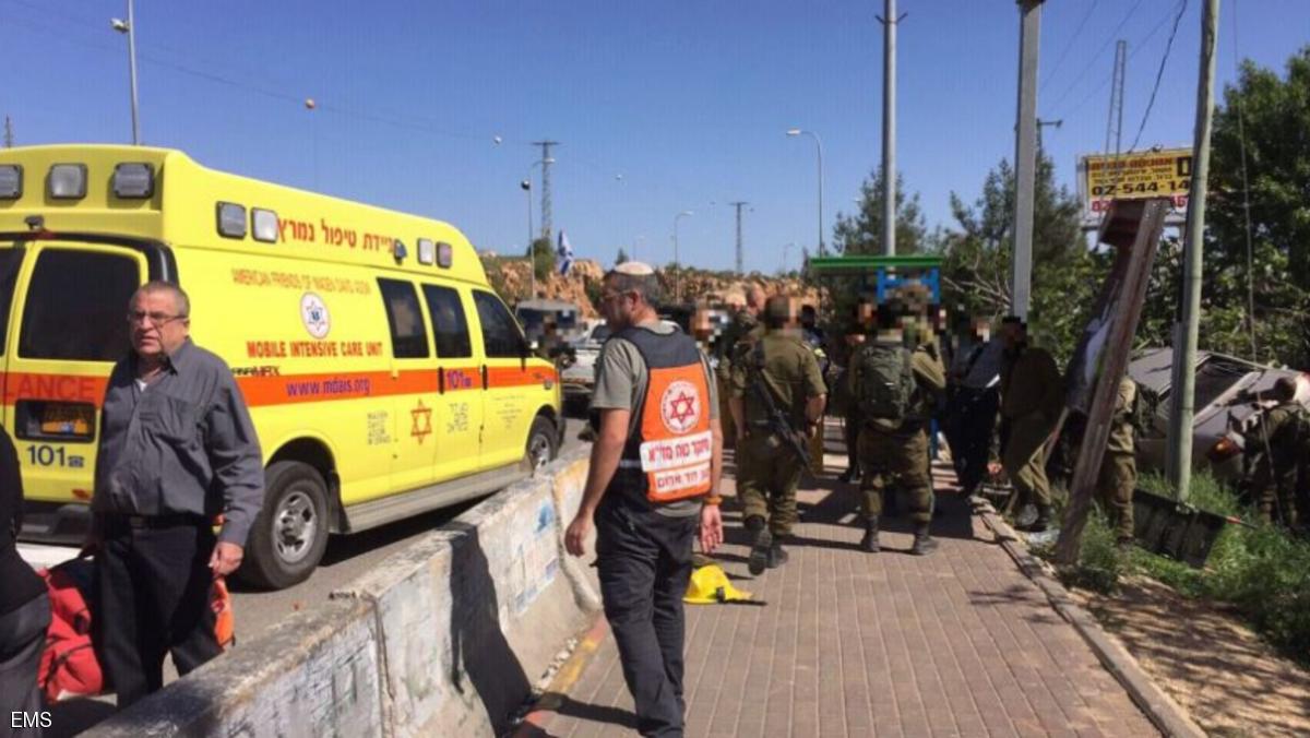 فلسطيني يدهس جنديين إسرائيليين قرب رام الله