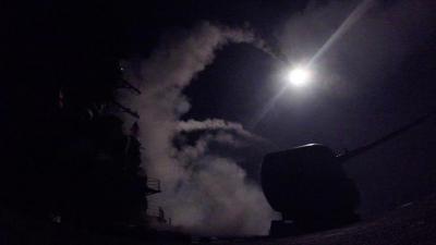 """هذه تكلفة صواريخ """" توماهوك """" التي أطلقت على قاعدة ومطار الشعيرات السورية"""