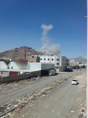 بالصور : غارات جوية تستهدف العاصمة صنعاء  ( المواقع المستهدفة )