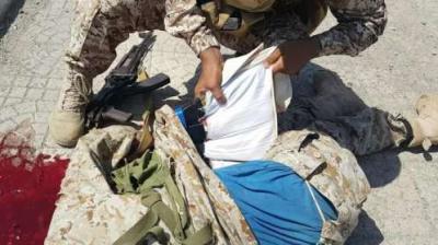 تفاصيل مصرع انتحاري يرتدي حزاماً ناسفاً كان ينوي إستهداف نقطه أمنيه في عدن ( صوره)