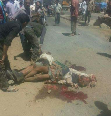 قتلى وجرحى في إنفجار إستهدف موكب قائد عسكري في الضالع ( صوره)