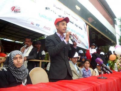 """تحت شعار """"حلم اليتيم """" مؤسسة صناع الحياة اليمن تختتم فعالية يوم اليتيم العربي2014م"""