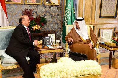 بالصور .. الملك سلمان يستقبل الرئيس هادي في رساله دعم وتأييد