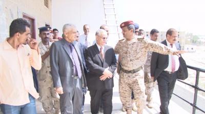 إفتتاح مجمع قيادة وزارة الدفاع بعدن