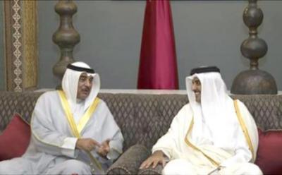 أمير قطر يزور الكويت