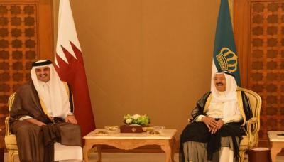 أمير قطر ينهي زيارته للكويت والتي إستمرت عدة ساعات