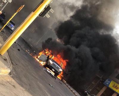 الداخلية السعودية تكشف تفاصيل تفجير سيارة بالقطيف ومقتل شخصين من المطلوبين بداخلها ( صور)