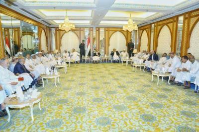 الفريق علي محسن الأحمر يلتقي بأعضاء مجلس النواب ( صورة)