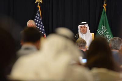 الجبير يقول بأن عمليات التحالف في اليمن مستمرة وتم تخصيص 10 مليارات دولار لإعادة الإعمار