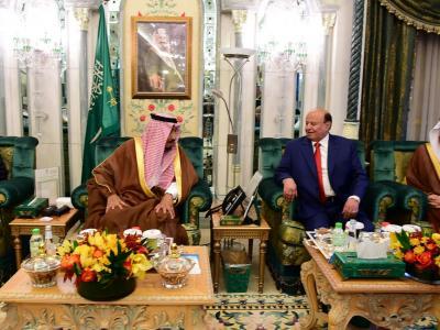 الملك سلمان يستقبل الرئيس هادي