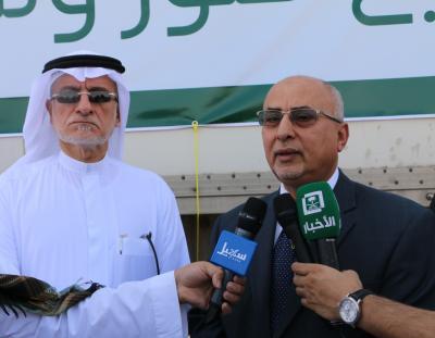 مركز الملك سلمان للإغاثة يسير قافلة اغاثية الى اليمن