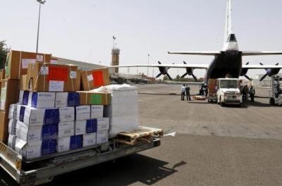 مطار صنعاء يستقبل 26 طناً من المواد الطبية