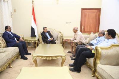 بن دغر يلتقي بقيادة مجلس إدارة طيران اليمنية