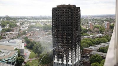 كيف اندلع حريق برج لندن ؟