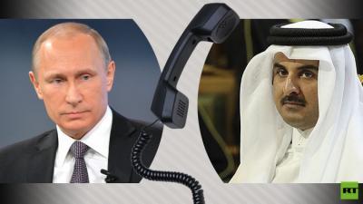 اتصال هاتفي بين الرئيس بوتين وأمير قطر