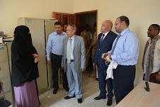 رئيس القضاء الاعلى ووزير العدل يتفقدان سير العمل في محاكم عدن