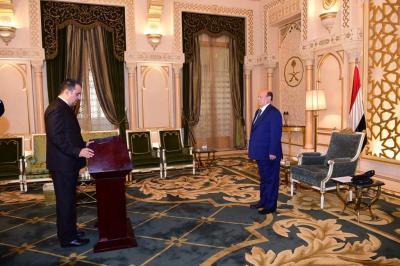 الرصاص يؤدي اليمين الدستورية أمام الرئيس هادي