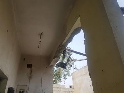 """الدفاع المدني السعودي : إصابة """"يمنية"""" وطفلتين سعوديتين إثر سقوط مقذوفات أطلقها الحوثيون ( صور)"""