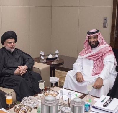 """في زيارة وصفت بالنادره .. الزعيم العراقي الشيعي """" مقتدى الصدر """" في ضيافة الأمير محمد بن سلمان"""