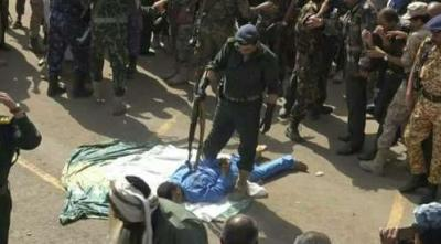 شاهد بالفيديو .. لحظة إعدام قاتل ومغتصب الطفلة رنا اليوم بصنعاء