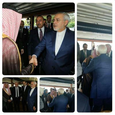 """هذا ما قاله وزير الخارجية الإيراني """"ظريف """" عن لقائه بنظيره السعودي """" الجبير """" ومصافحته له"""