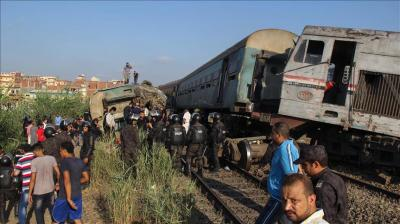 وفاة مسؤول مصري عقب تفقده موقع حادث تصادم قطاري الإسكندرية