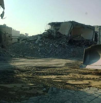 بالصور .. السلطات السعودية تعلن الانتهاء من هدم كامل حي المسورة بالقطيف