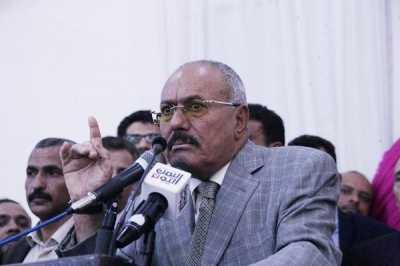 """أبرز ما قاله """" صالح """" في كلمته .. رد على عبد الملك الحوثي وحذر من التصعيد والفوضى في صنعاء وتحدث عن تمزيق صوره"""