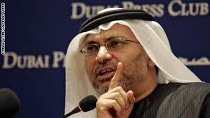 """الوزير الإماراتي """" قرقاش """" يمتدح كلمة """" صالح """" .. والمؤتمر يصدر بيان ويؤكد بأنه لا يوجد أي حوار مع الإمارات"""