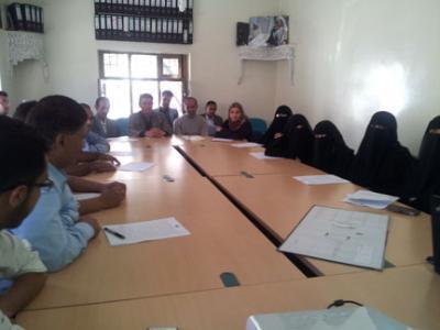 تدريب اللجان الميدانية المشاركة في توزيع المساعدات الغذائية للمستفيدات من مشروع دعم تعليم الفتاة