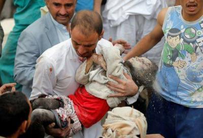 """التحالف يصدر بيان جديد بشأن سبب إستهداف مدنيين بينهم أطفال بمنطقة """" عطان """" بصنعاء"""