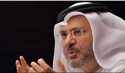 الوزير الإماراتي قرقاش يتحدث من جديد عن الخلاف بين الحوثيين والمؤتمر ومن له اليد الطولى