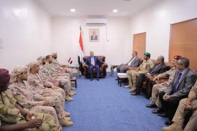 بن دغر يستقبل قادة قوات التحالف العربي بعدن