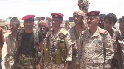 """رئيس الاركان اللواء """" العقيلي """" يزور المنطقة العسكرية السادسة بالجوف"""