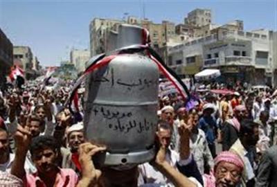 إرتفاع جنوني في سعر إسطوانة الغاز المنزلي في صنعاء وبعض المحافظات مقارنة بتكلفة الشراء من مأرب