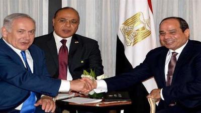 """بالصور .. أول محادثات علنية بين السيسي ورئيس الوزراء الإسرائيلي """"نتنياهو"""""""