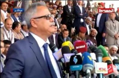 """بن حبتور ينقلب على المؤتمر ويهنئ عبد الملك الحوثي و """" صالح """" بماتسمى بثورة """" 21 سبتمبر"""" من منصبة """" السبعين"""""""