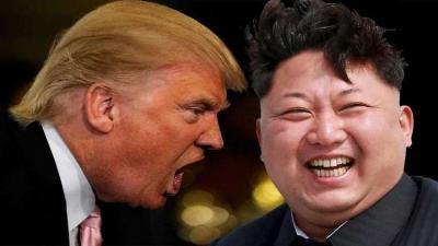 ترامب يهدد بإزالة كوريا الشمالية عن الوجود