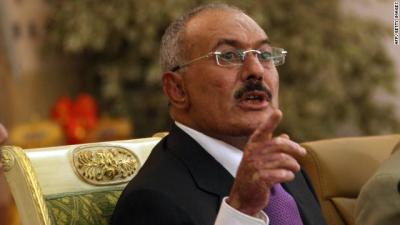 """صحيفة تكشف عن حالة الضعف التي ظهر فيها """" صالح """" في خطابه الأخير بسبب الحوثيين"""