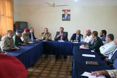 جباري يرأس اجتماعاً للسلطة المحلية واللجنة الأمنية العليا في تعز