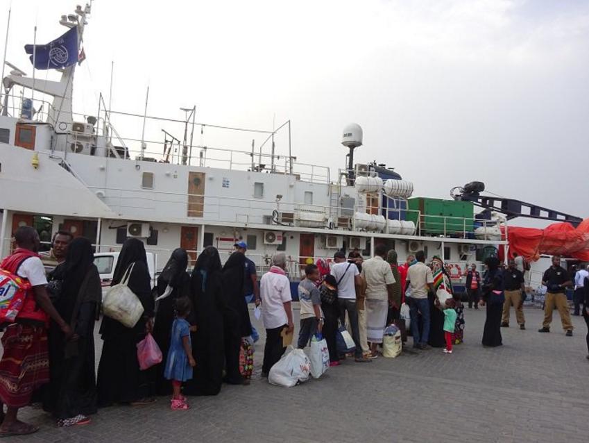 الهجرة الدولية : 1711 صومالياً تم إجلاؤهم طوعًا من اليمن إلى بلادهم خلال 10 أشهر