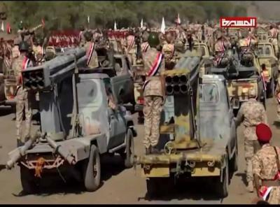 طيران التحالف يتجاهل عرض عسكري كبير للحوثيين في تعز !