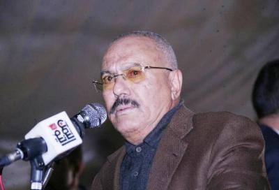 """الرئيس السابق """" صالح """" يقول بأن هادي وعلي محسن وبن دغر بضاعتي  .. ويهاجم ولد الشيخ"""