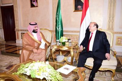 بالصور .. الرئيس هادي يستقبل ولي العهد السعودي محمد بن سلمان