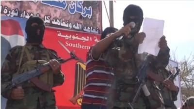 شاهد بالفيديو .. مسلحون ملثمون بالضالع يتوعدن بشن هجمات على قوات الجيش
