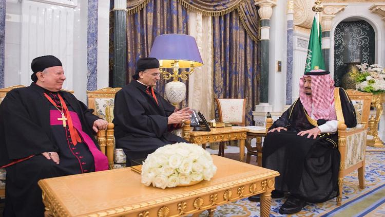 الملك سلمان يستقبل البطريرك الراعي في الرياض
